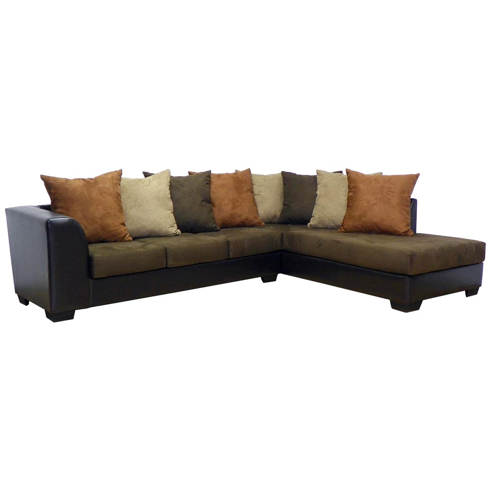 Christine Sofa & Chaise Sectional - Bulldozer Java
