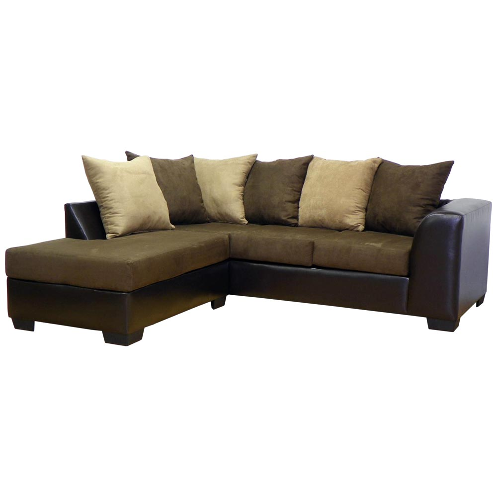 Patty Sofa & Chaise Sectional - Bulldozer Java