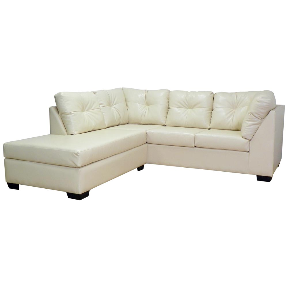 Miranda Sofa & Chaise Sectional - Tufted, San Marino Ivory