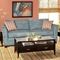 Barbara Flared Arm Sofa - Montana Lagoon Fabric - CHF-251935-30