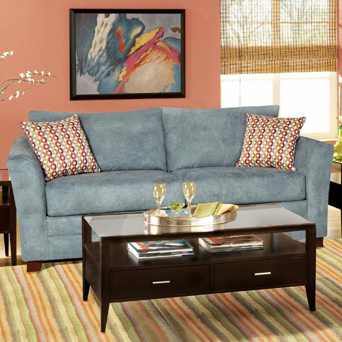 Barbara Flared Arm Sofa - Montana Lagoon Fabric
