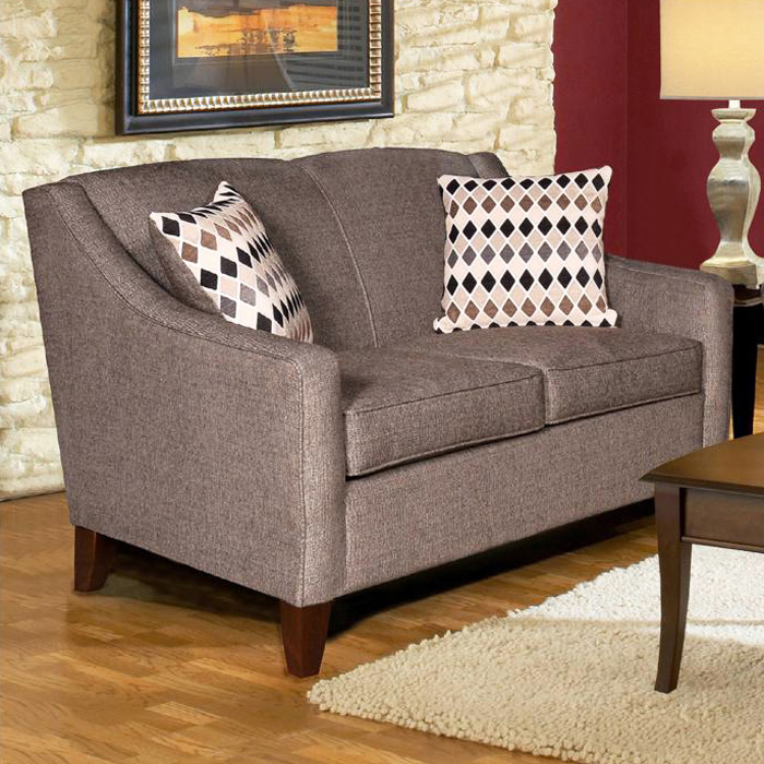 Hilda Sloped Arm Loveseat - Sagittarius Granite Fabric