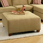 Jefferson Square Upholstered Ottoman - Bella Coffee Fabric