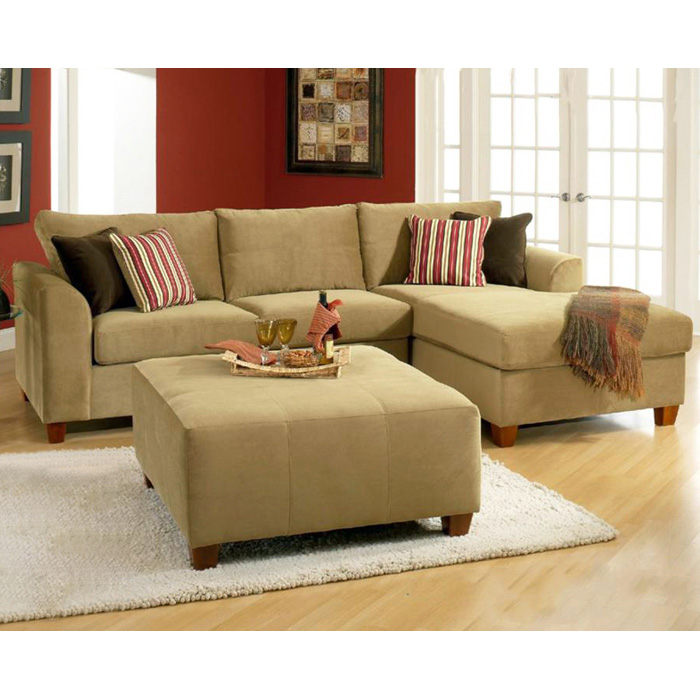 Jefferson Sofa & Chaise Sectional - Bella Coffee Fabric
