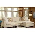 Sophie Pillow Back Chaise Sectional Sofa - Bella Buckwheat