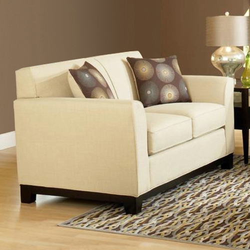 Clark Contemporary Loveseat - Dum Dum Natural Fabric - CHF-257100-LS