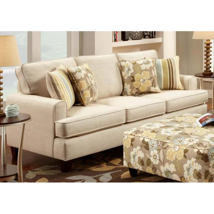 Hudson Sofa Sleeper in Marlboro Ivory Fabric