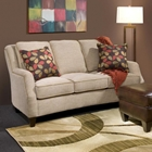 Russell Apartment Size Sofa - Maniac Sand Fabric