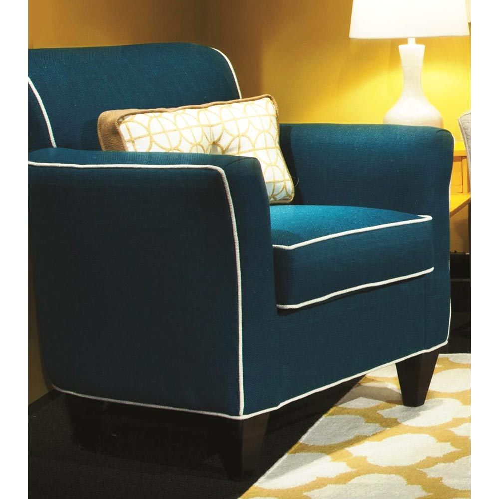 Yvette Padded Armchair - Contrasting Welts, Lindy Cayman Fabric