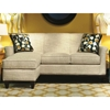 Yvette Contemporary Sofa & Ottoman - Chaise Cushion, Nostalgia Marshmallow