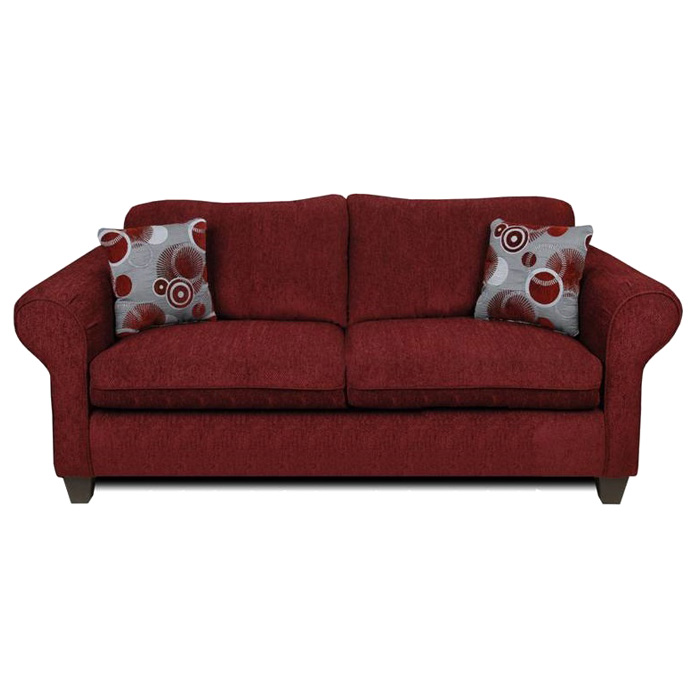 Libby Sofa - Rolled Arms, Tahoe Burgundy Fabric