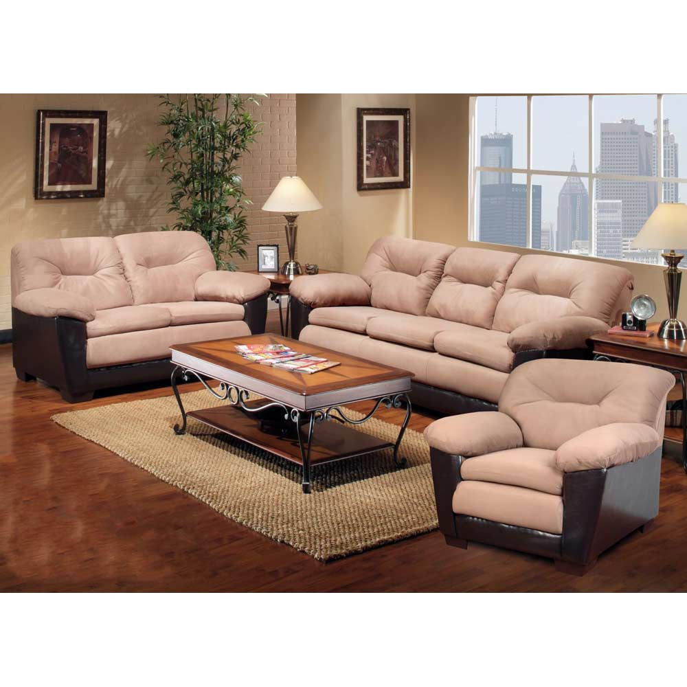 Bridget Plush Sofa - Pillow Top Arms, Victory Sepia Cushions - CHF-29301-S-VS