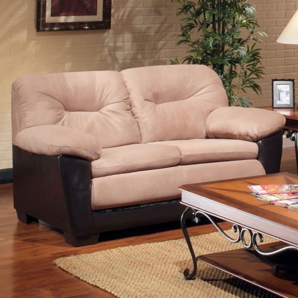 Bridget Plush Loveseat - Pillow Top Arms, Victory Sepia Cushions - CHF-29301-L-VS