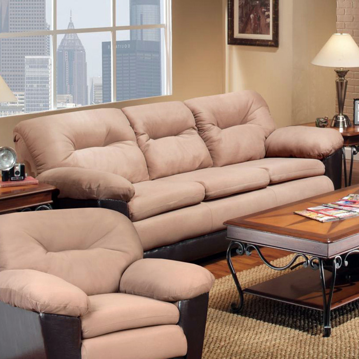 Bridget Plush Sofa - Pillow Top Arms, Victory Sepia Cushions