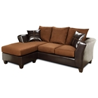 Peyton Sofa & Ottoman - Chaise Cushion, Flat Suede Chocolate