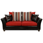 Cynthia Modern Sofa - Patterned Pillows, Denver Black