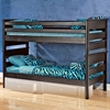 Twin Bunk Bed - Black Cherry Finish