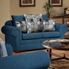 Marsha Loveseat - Rolled Arms, Tahoe Navy Fabric