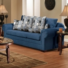 Marsha Sofa - Rolled Arms, Tahoe Navy Fabric