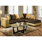 Alpha Chaise Sectional Sofa - Velvety Cushions, Multicolored Pillows