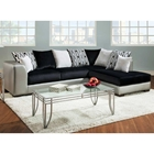 Sigma Chaise Sectional Sofa - Velvety Cushions, Multicolored Pillows