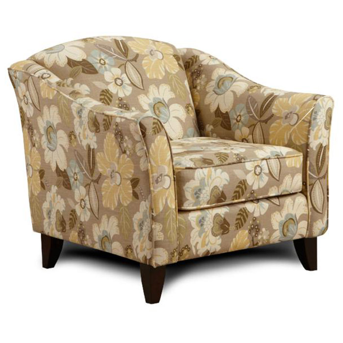 Hudson Fabric Sofa Set with Floral Ottoman - CHF-HUDSON-SET