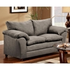 Gail Pillow Top Arm Loveseat - Flat Suede Graphite