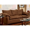 Gail Pillow Top Arm Sofa - Flat Suede Chocolate