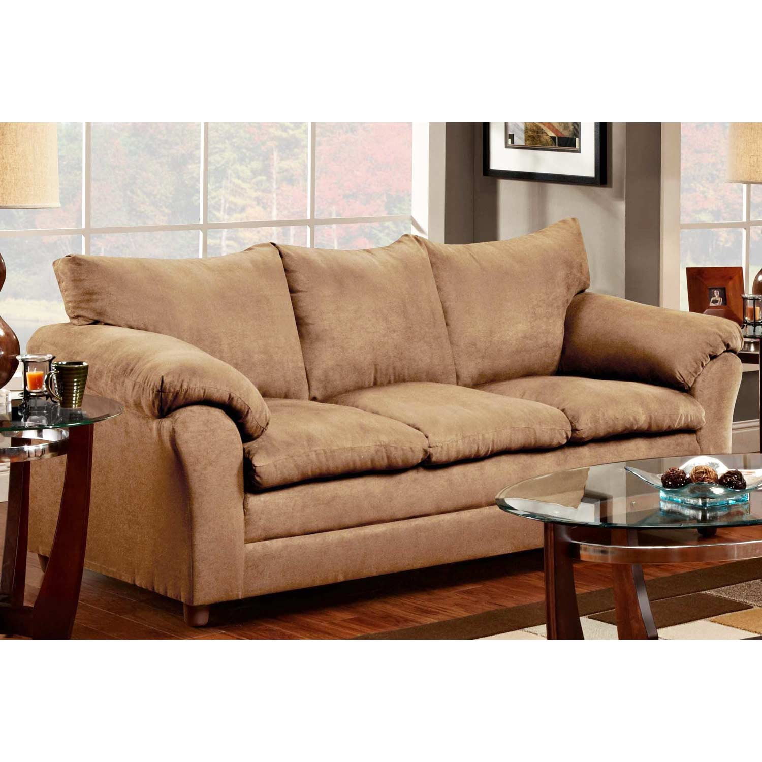 Gail Pillow Top Arm Sofa - Victory Lane Taupe - CHF-471150-S-VLT
