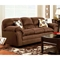 Joyce Padded Fabric Sofa - Flat Suede Chocolate - CHF-471250-S-FC