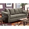 Kiersten Flared Arm Fabric Sofa - Flat Suede Graphite - CHF-472000-S-FG