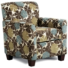 Genna Floral Print Armchair - Viola Chocolate Fabric