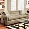 Brittany Sloped Arm Sofa - Buttons, Stoked Pewter Fabric - CHF-475440-S-SP