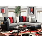 Corianne Sofa & Chaise Sectional - Multicolored Pillows, Trapper Black