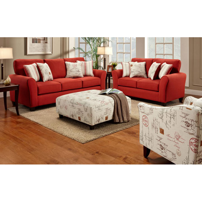 Gloucester 3 Piece Cotton,Upholstered Living Room Set