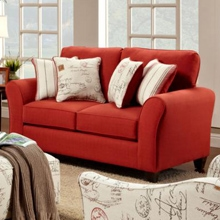 Gloucester Mariner Flame Fabric Loveseat