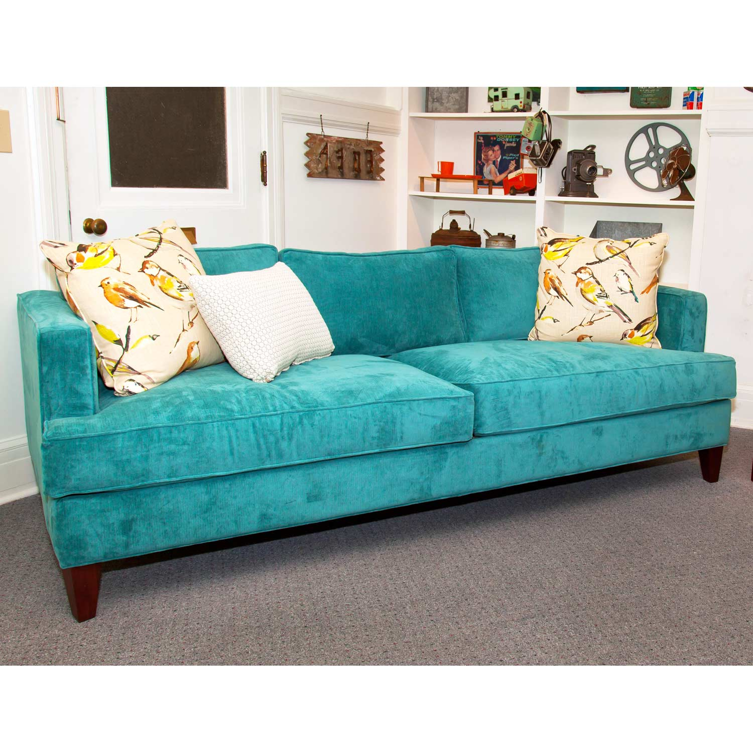 Ashley Track Arm Sofa - Wrigley Oasis Fabric