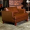 Ashley Leather Lounge Chair - Tapered Wood Feet, Longhorn Latte - CHF-50150-CH