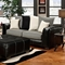 Landon Modern Sofa - Contrast Stitching, Laredo Black - CHF-6303-IS