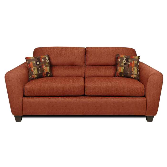 Linda Sofa - Bustle Back, Dream Terra Cotta Fabric