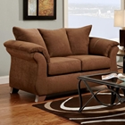 Payton Pillow Back Loveseat - Aruba Chocolate Microfiber