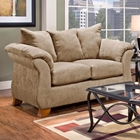 Payton Pillow Back Loveseat - Sensations Camel Microfiber