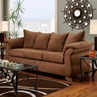 Payton Pillow Back Sofa - Aruba Chocolate Microfiber