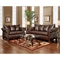 Payton Pillow Back Sofa - Taos Mahogany Leather - CHF-6703-TM