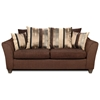 Lizzy Flared Arm Sofa - Pillow Back, Romance Brown Fabric