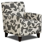 Bergen Fabric Accent Chair with Tapered Legs