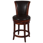 Cinna 30%27%27 Swivel Bar Stool - Wenge, Dark Brown Leather