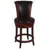 Cinna 26'' Swivel Counter Stool - Wenge, Dark Brown Leather