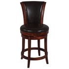 Cinna 26 Swivel Counter Stool - Wenge, Dark Brown Leather