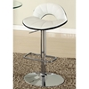 Dorothy Contemporary Swivel Stool - Adjustable Height, Chrome